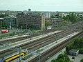 Leiden Centraal vanuit bedrijventoren mei 2018.jpg