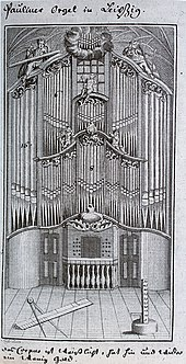 Organ of the St. Paul's Church in Leipzig, tested by Bach in 1717. (Source: Wikimedia)