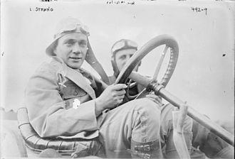 Lewis Strang - Strang at the wheel of his Renault in 1908