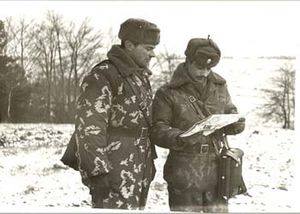 Central Group of Forces - Soviet officers in Libavá training center, winter 1985