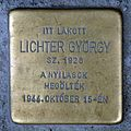 Lichter György stolperstein (Budapest-06 Csengery u 84).jpg