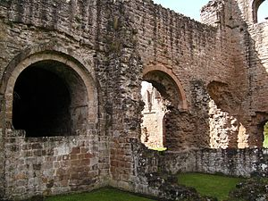 Richard de Belmeis II - A view of the north wall of the chancel at Lilleshall.
