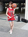 Lily Cao with the western concert flute and Spalding basketball 20200704b.jpg