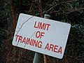 Limit Of Training Area - geograph.org.uk - 335864.jpg