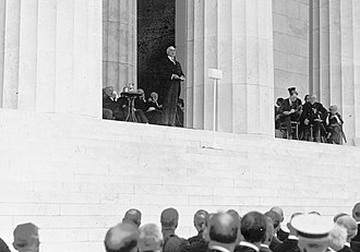 Lincoln Memorial - President Warren G. Harding speaking at the dedication, 1922