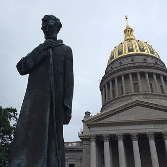 West Virginia State Capitol - Lincoln Statue on WV Capitol Grounds