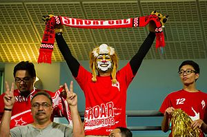 LionsXII - A LionsXII fan showing his support for the team by having his face painted like a lion