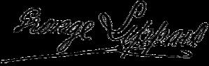George Lippard - Image: Lippard Signature