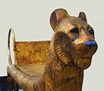 Lit funéraire (tombe de Toutânkhamon musée du Caire) (1814753843).jpg