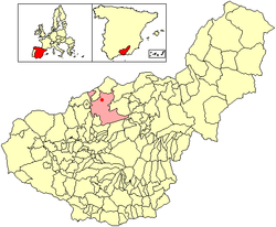 Location of Dehesas Viejas