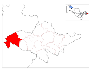 Location of Ulug'nor District in Andijon Province.png