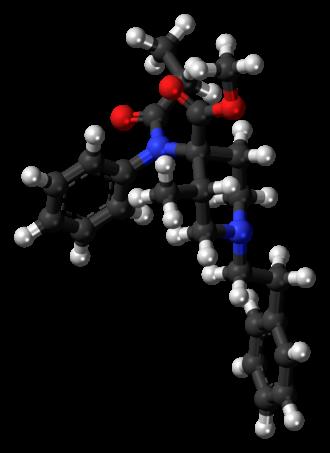 Lofentanil - Image: Lofentanil molecule ball