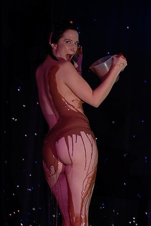 A striptease with chocolate.
