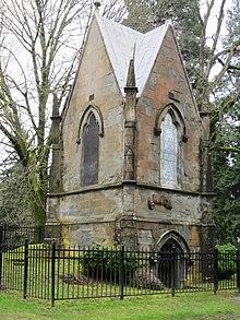Lone Fir cimetière, mausolée MacLeay, Portland, Oregon.JPG