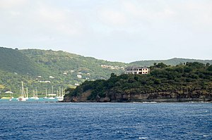 Falmouth, Antigua and Barbuda - Harbour Hill and Falmouth Harbour.