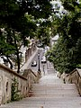 Looking down the Jezsuita Stairs, Budapest halaszbastya 01 013 002.jpg