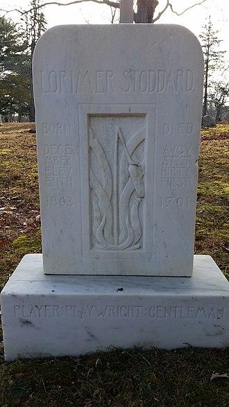 Oakland Cemetery (Sag Harbor, NY) - Image: Lorimer Stoddard Gravestone