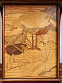 Louis majorelle, mobile a ripiani, francia 1898-99 ca. 02 foglie e quaglia.JPG