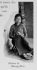 Lu Woman in Laos, c. 1900
