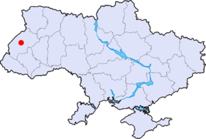 Розташування міста Львів
