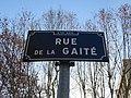 Lyon 6e - Rue de la Gaîté - Plaque 2 (janv 2019).jpg