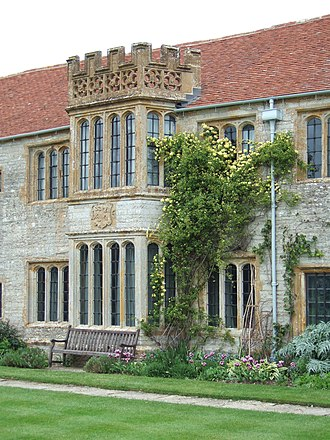 Lytes Cary - The bay windows of the Great Parlour and Great Chamber on the south front