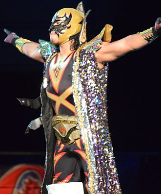 Máscara Dorada - Dorada as the CMLL World Welterweight Champion
