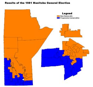 Manitoba general election, 1981 - Image: MB1981