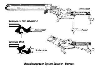 Salvator-Dormus M1893 heavy machine gun of Austro-Hungarian origin