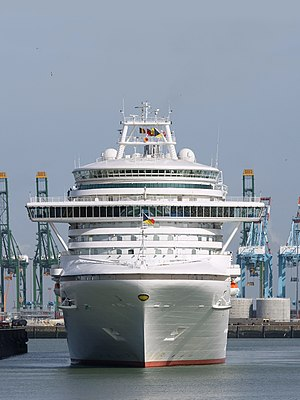 MS Azura - Front view in Zeebrugge
