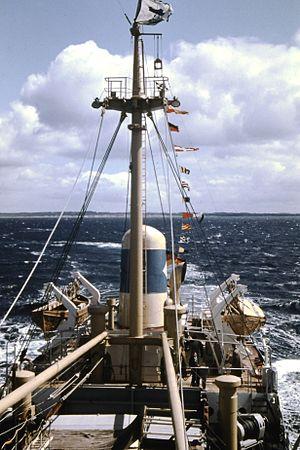Sea trial - Nobiskrug new ship Sabine Howaldt on sea trials in the Kiel Fjord in May 1958