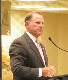 Photo of Wolfe speaks out against House Bill 253 at the University of Missouri in September 2013