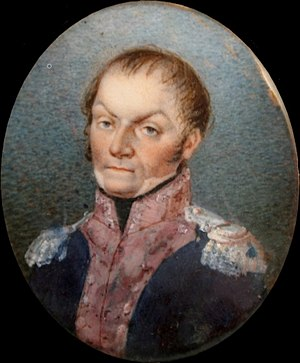Józef Zajączek - Zajączek on a portable miniature portrait