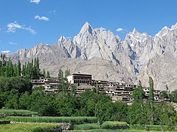 The Ghanche region features serrated peaks typical of the high Karakorams