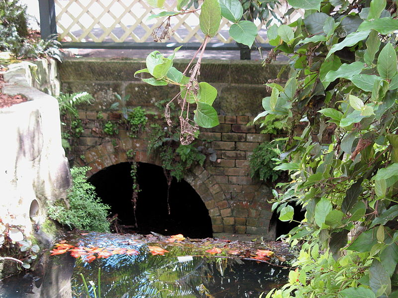 The oldest bridge in Australia, built by Nicholas Delaney: the Macquarie Culvert, Mrs Macquarie's Drive, Royal Botanic Gardens, Sydney
