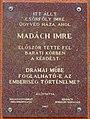 Madách Imre plaque (Balassagyarmat Bercsényi u 8).jpg