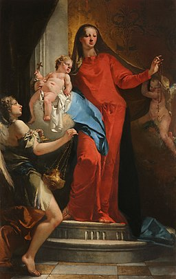 Madonna of The Rosary with Angels by Giovanni Battista Tiepolo, 1735