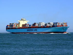 Maersk Sofia p06 approaching Port of Rotterdam, Holland 04-Aug-2007.jpg