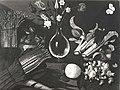 Maestro della natura morta di Hartford - Natura morta con vaso di fiori, ortaggi, funghi e cesto di lumache, Collezione privata.jpg