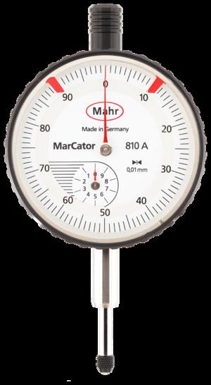 Indicator (distance amplifying instrument) - Mahr dial indicator, 10 mm range