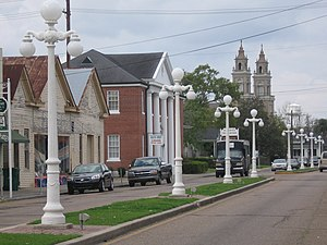 St. Mary Parish, Louisiana - Image: Main street in Franklin