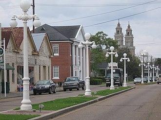 St. Mary Parish, Louisiana - Image: Main street in Franklin