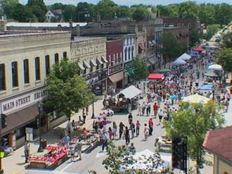Hartford, Wisconsin - Downtown Hartford on Maxwell Street Day 2006