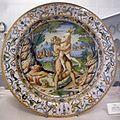 Maiolica di urbino, bottega dei fontana, ercole e anteo, 1550 ca.jpg
