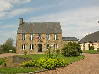 Aubusson, Orne - The town hall in Aubusson