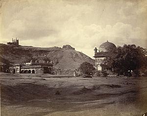 Malik Ambar - Malik Ambar's Tomb 1860s Khuldabad