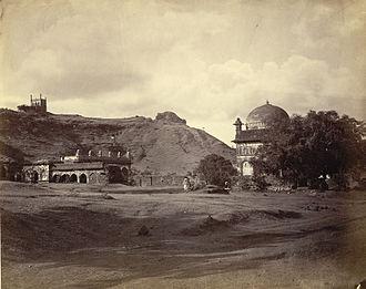 Khuldabad - Malik Ambar's Tomb 1860s Khuldabad