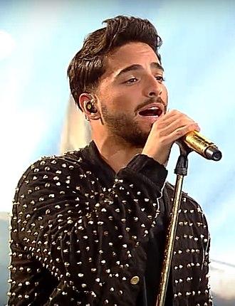 "Maluma (singer) - Maluma performing ""Sin Contrato"", during the Festival de Viña del Mar 2017 in Chile"