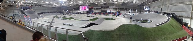 National Indoor BMX Arena at the 2013 UCI BMX Supercross World Cup