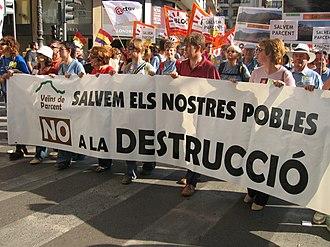 Parcent - Protest marchers in Parcent concerned about growth plans